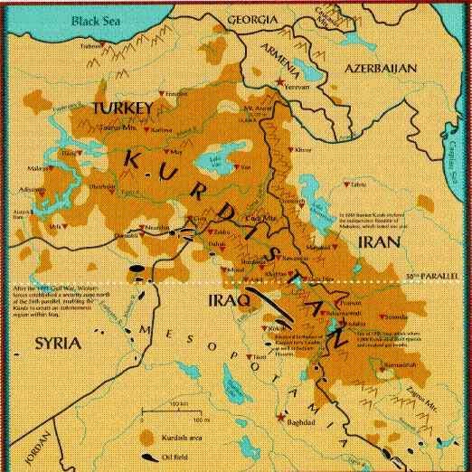 Los territorios armenios usurpados por Turquía son reclamados por los Kurdos, una vez que los armenios fueron eliminados por el Genocidio de 1915 en donde los Kurdos también participaron como verdugos.