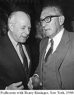 with Henry Kissinger, New York, 1988