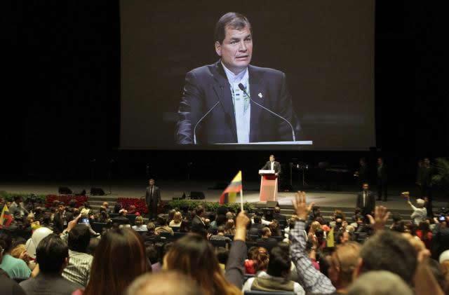 Rafael Correa en Barcelona